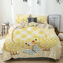 Totun Duvet Cover Set Beige,Baby Plaid Patterned