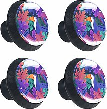 Toucan Colorful Plants Drawer Knob Pull Handle
