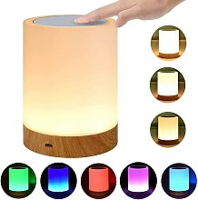 Touch Dimmer Bedside Lamp, Color Change, Touch
