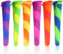 Touch Life 6 PCS Silicone Ice Pop Mold