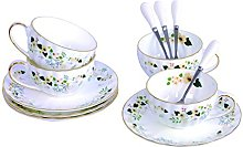 Touch Life Set of 4 Bone China Teacups/Coffee Cups