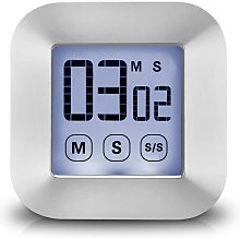 Touch Screen Kitchen Timer - LCD Display Countdown