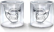 TouchLife Set of 2 250ML Crystal Skull Shotglass