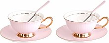 TouchLife Set of 2 Bone China Teacups/Coffee Cups