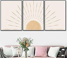 TougMoo Abstract Sunrise Boho Scene Canvas Print