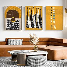 TougMoo Vintage Art Canvas Nordic Abstract African
