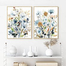 TougMoo Wall Decor With Flowers And Leaves In