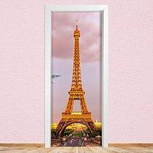 Tour Eiffel Door Sticker East Urban Home