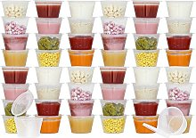 Tovla Disposable Weaning Pots with Hinged Lids