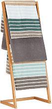 Towel Holder Freestanding with 4 Towel Rails,