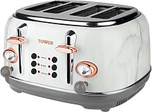 Tower Bottega 4 Slice Toaster - Marble