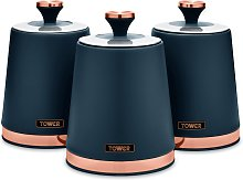Tower Cavaletto Pack of 3 Storage Jars - Midnight