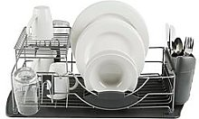 Tower Compact 2-Tier Dish Rack With Cutlery Holder
