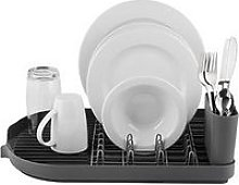 Tower Compact Dish Rack With Cutlery Holder