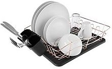 Tower Dish Rack With Rose Gold Tray