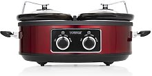 Tower Double 5L Slow Cooker Tower