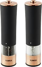 Tower Electric Salt and Pepper Mill - Rose Gold