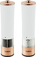 Tower Electric Salt and Pepper Mill - White and