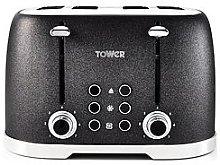Tower Glitz 1600W 4 Slice Toaster - Black