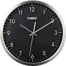 Tower Glitz Black Wall Clock