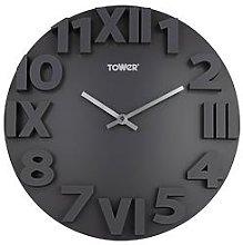Tower Infinity Stone Wall Clock - Slate Grey