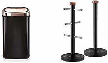Tower Kitchen Bin Sensor Lid, 58 Litre, Black and