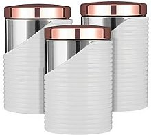 Tower Linear Set Of 3 Storage Canisters