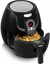 Tower Low Fat Rapid Air Fryer with Digital Timer,
