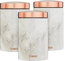 Tower Marble Rose Gold Edition Canisters &Ndash;