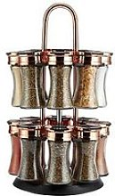 Tower Rose Gold And Black Rotating Spice Rack And