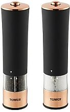 Tower Rose Gold Electric Salt And Pepper Mill