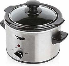 Tower Stainless Steel Slow Cooker with 3 Heat