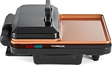 Tower T14046COP Cerasure+ XL 180 Grill and Griddle