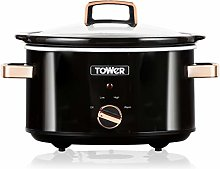 Tower T16018RG Stainless Steel Slow Cooker with 3