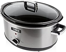 Tower T16019 Stainless Steel Slow Cooker with 3