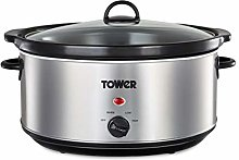 Tower T16040 6.5L Slow Cooker Stainless Steel