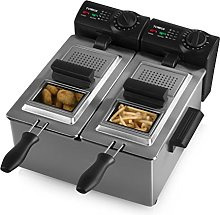 Tower T17007 Dual Basket Deep Fat Fryer, Easy