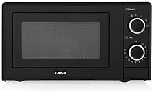 Tower T24029 Manual Solo Microwave with 4 Power