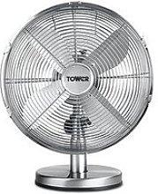 Tower T605000 Metal Desk Fan With 3 Speeds,