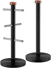 Tower T826002RB Linear Kitchen Roll Holder and Mug
