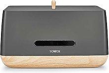 Tower T826030G Bread Bin, Scandi Range, Robust