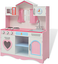 Toy Kitchen Wood 82x30x100 cm Pink and