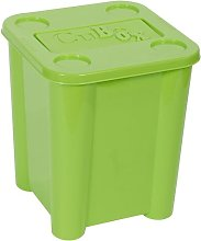 Toy Plastic Cube Or Bin Symple Stuff Colour: Green