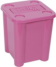 Toy Plastic Cube Or Bin Symple Stuff Colour: Pink