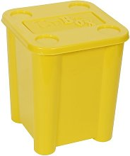 Toy Plastic Cube Or Bin Symple Stuff Colour: Yellow