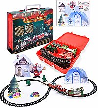 Toy Train Set with Lights and Sounds, Christmas