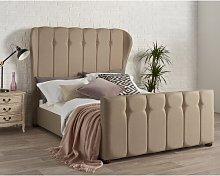 Toya Wingback Upholstered Bed Frame Rosalind