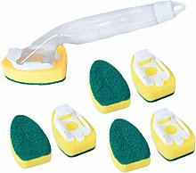 TOYANDONA 1 Set Dismountable Cleaning Sponge Brush