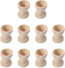 TOYANDONA 10pcs Wooden Egg Cups Egg Stand Holders