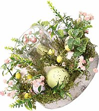TOYANDONA 1Pc Easter Wreath, Easter Egg